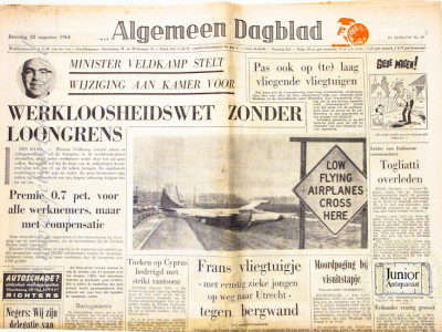 Krant geboortedag  Algemeen Dagblad (26-05-1972)