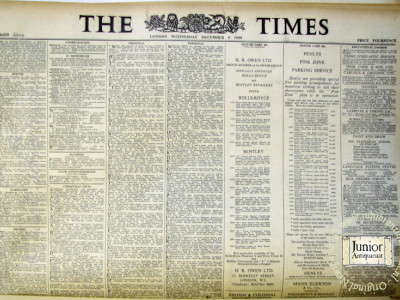Krant geboortedag  The Times (24-05-1972)