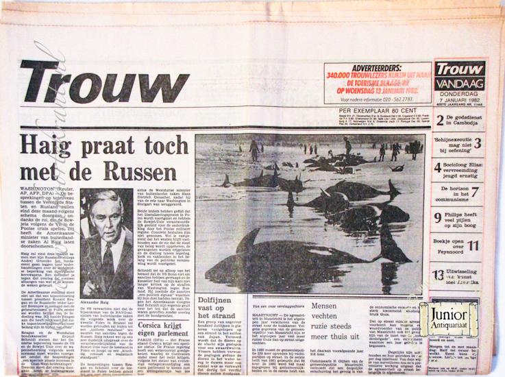 Krant geboortedag Trouw (22-07-1971), een mooi cadeau voor jubileum of verjaardag