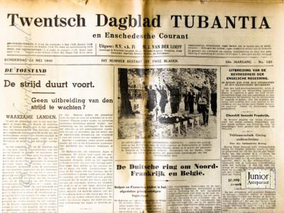 Twentsch dagblad Tubantia en Enschedesche courant krant geboortedag als jubileumscadeau