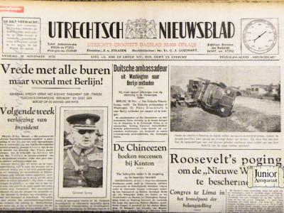 Utrechts Nieuwsblad krant geboortedag als jubileumscadeau