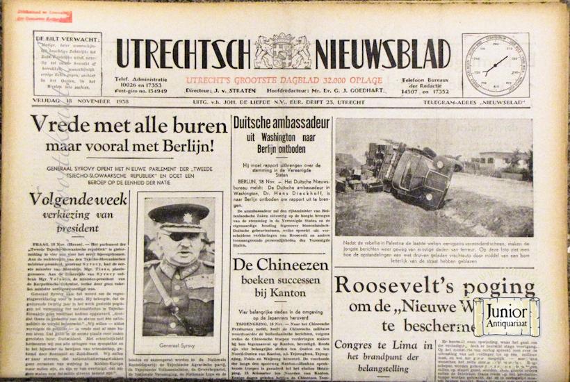 krant geboortedag titel Utrechts Nieuwsblad