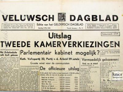 Veluwsch Dagblad krant geboortedag als jubileumscadeau