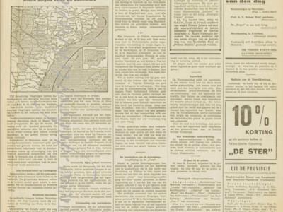 Vlissingsche courant krant geboortedag als jubileumscadeau
