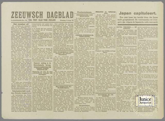 krant geboortedag titel Zeeuwsch Dagblad