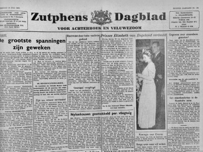 Zutphens dagblad krant geboortedag als jubileumscadeau