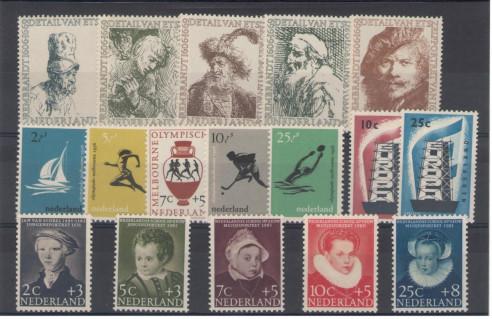 Postzegel jaargang 1956