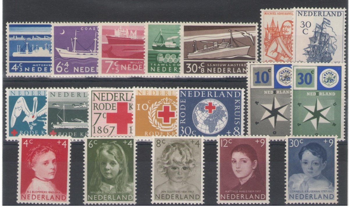 Postzegel jaargang 1957