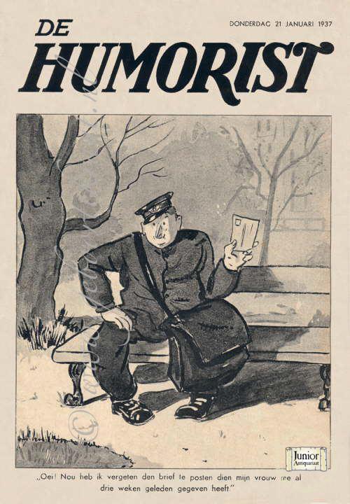 Vintage tijdschrift De Humorist (01-04-1938), een mooi cadeau voor jubileum of verjaardag