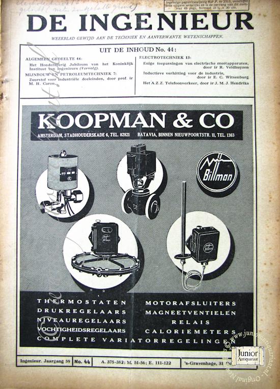 De ingenieur (12-11-1920)