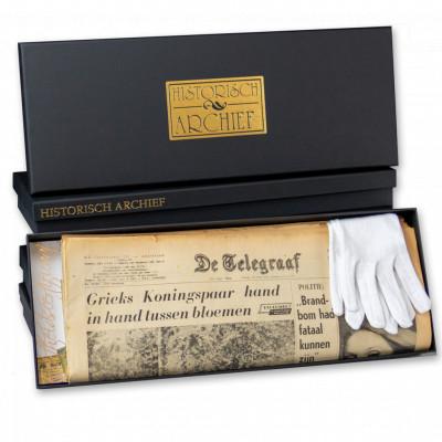 Geschenkverpakking voor krant van je geboortedag