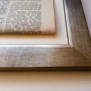 Vlakke zilveren lijst