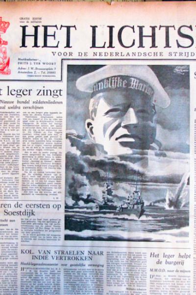 Het lichtspoor voor de Nederlandsche strijdkrachten