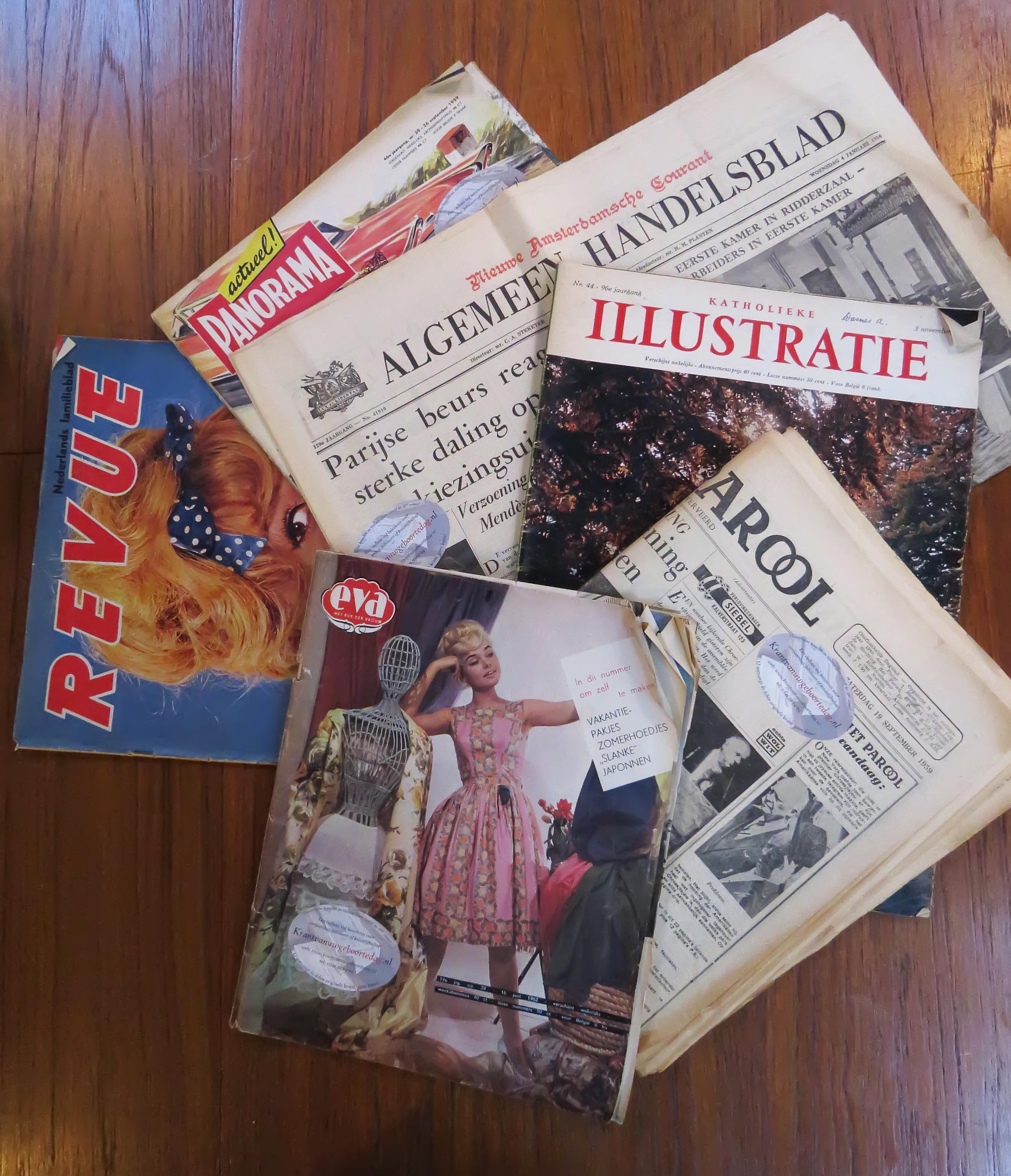 Kranten en tijdschriften uit jaren '60 in 'De Tijdmachine Amsterdam'