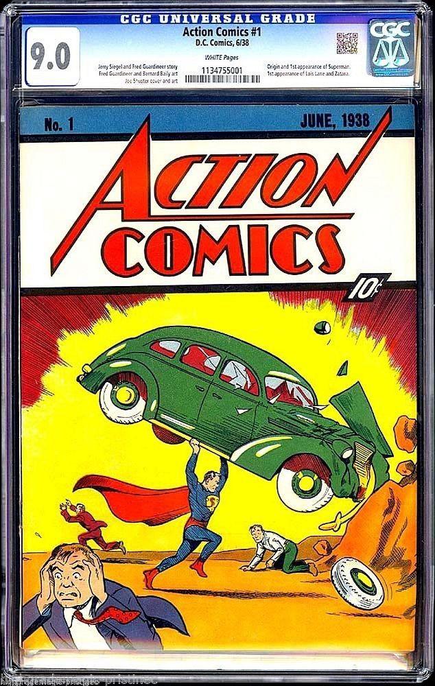 Eerste strip Superman onder de hamer
