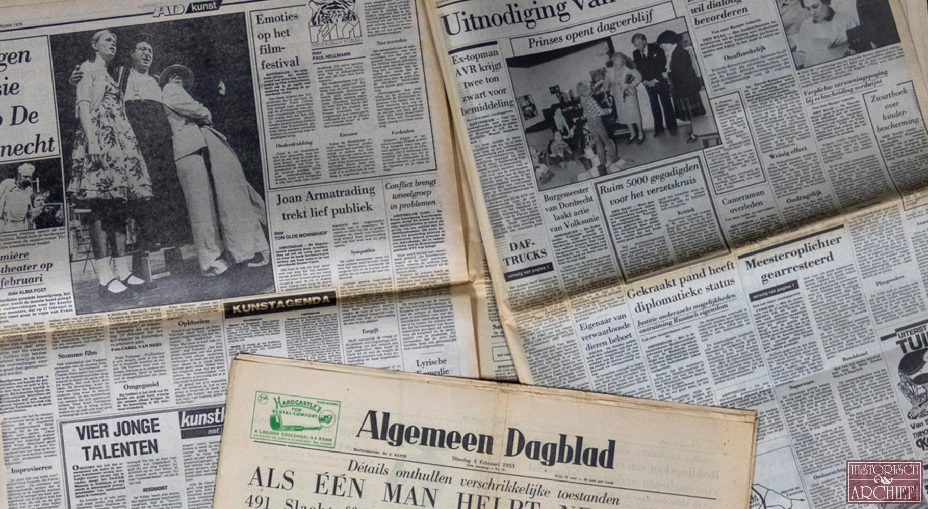 Krant geboortedag van Algemeen Dagblad