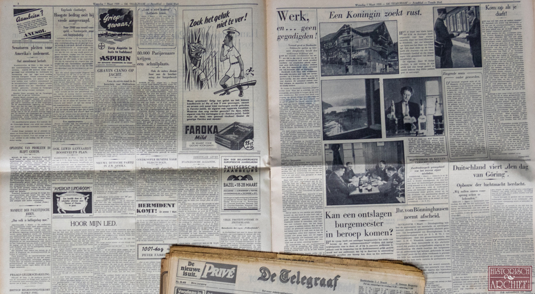 Krant geboortedag van De Telegraaf
