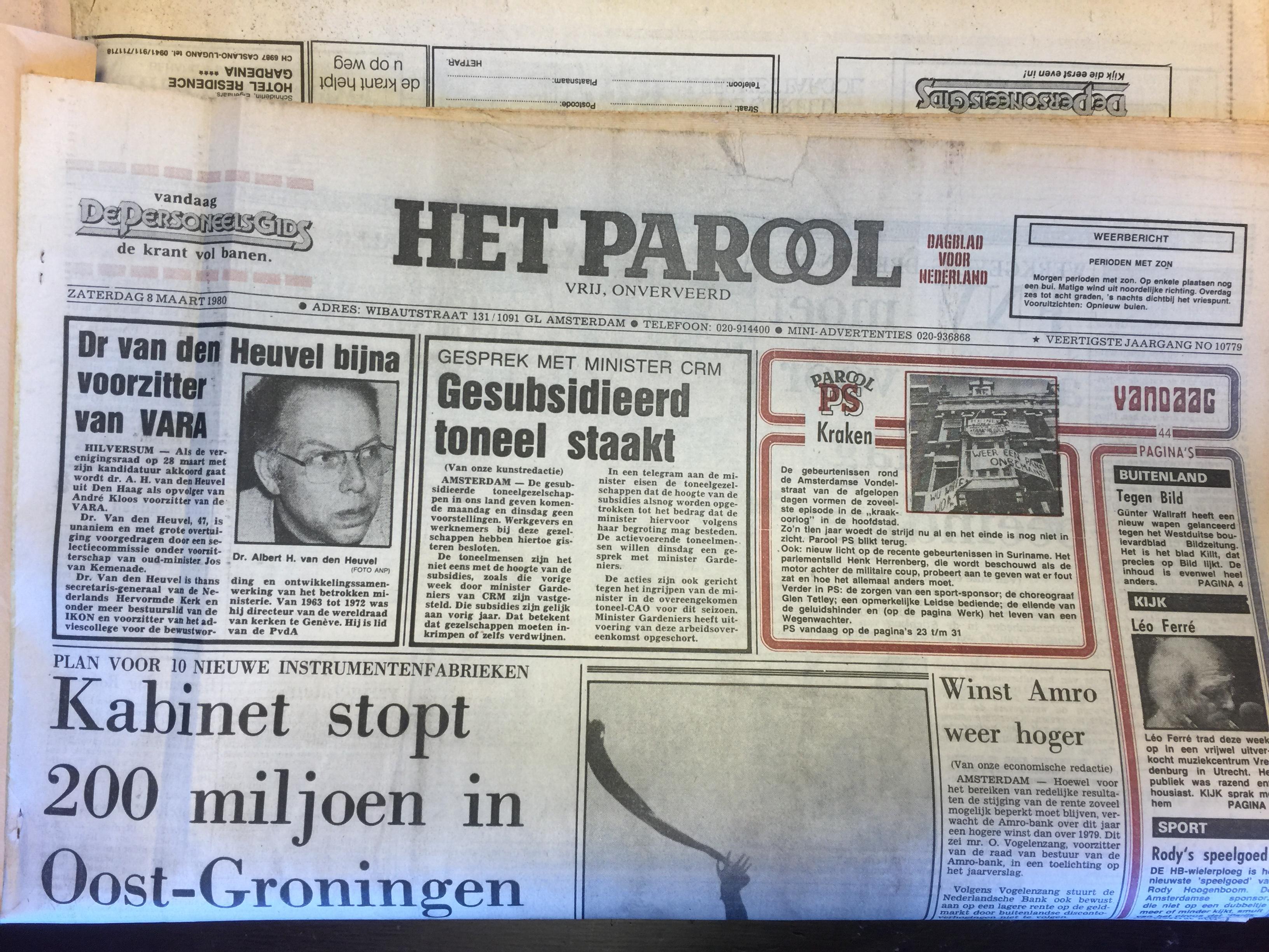 Historische kranten voor film 'Baantjer het begin'