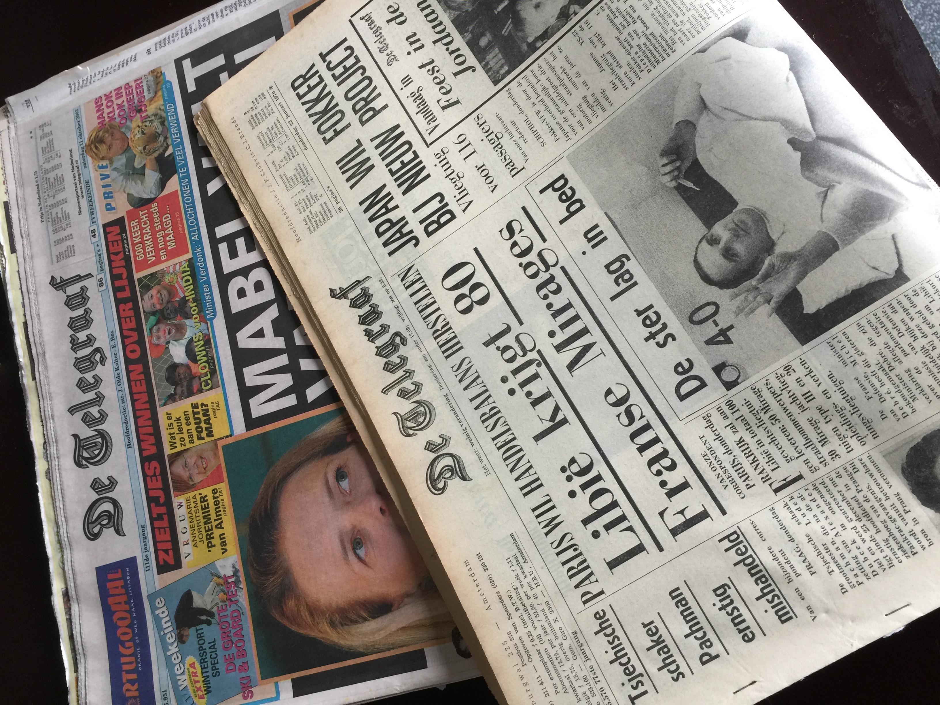 Groeten Uit 19XX: Oude kranten voor televisieprogramma RTL