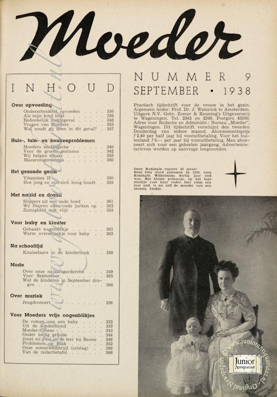 Vintage tijdschrift Moeder (01-04-1938), een mooi cadeau voor jubileum of verjaardag