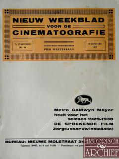 Nieuw weekblad voor de Cinematografie krant geboortedag als jubileumscadeau