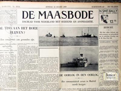 De Maasbode krant geboortedag als jubileumscadeau