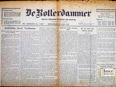 Krant geboortedag  De Rotterdammer (28-04-1972)