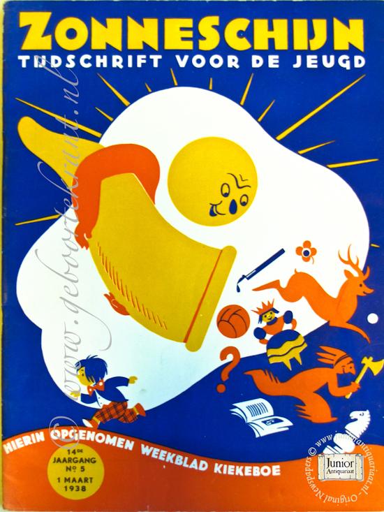 Vintage tijdschrift Zonneschijn (01-04-1938), een mooi cadeau voor jubileum of verjaardag