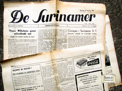 De Surinamer krant geboortedag als jubileumscadeau