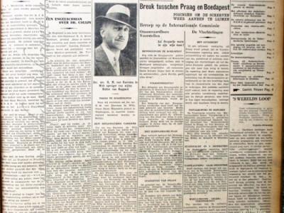 De Avondpost krant geboortedag als jubileumscadeau