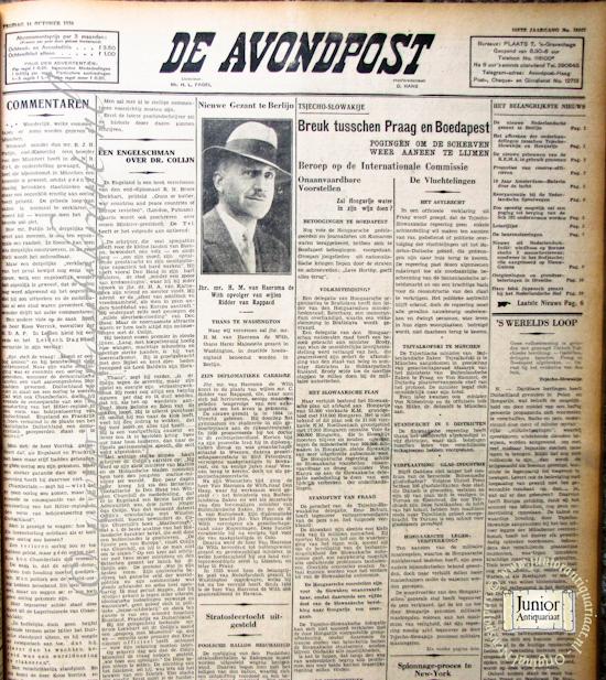 Krant geboortedag De Avondpost (17-12-1931), een mooi cadeau voor jubileum of verjaardag