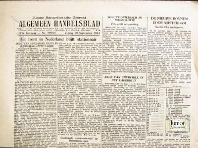 Algemeen Handelsblad krant geboortedag als jubileumscadeau