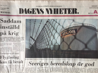 Dagens Nyheter krant geboortedag als jubileumscadeau