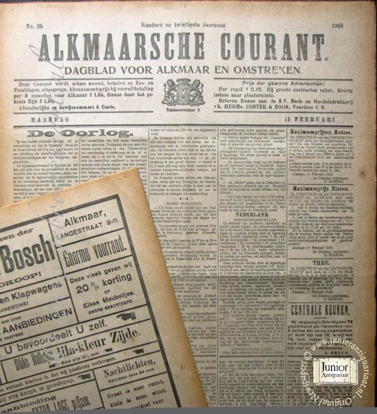 krant geboortedag titel Alkmaarsche Courant