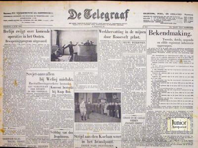 De Telegraaf krant geboortedag als jubileumscadeau