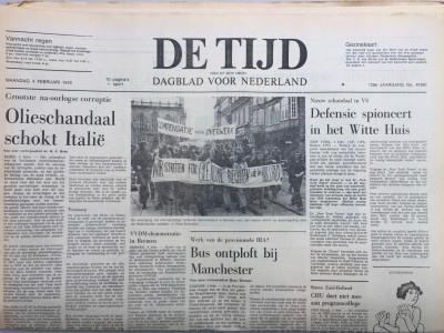 Krant geboortedag  De Tijd (02-05-1972)