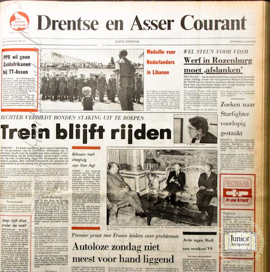 krant geboortedag titel Drentse en Asser Courant