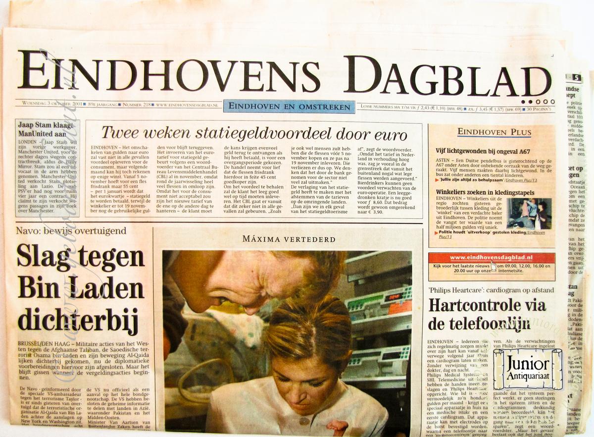krant geboortedag titel Eindhovens Dagblad