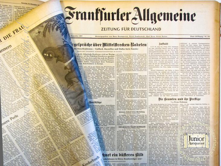Krant geboortedag Frankfurter Allgemeine Zeitung (22-07-1971), een mooi cadeau voor jubileum of verjaardag