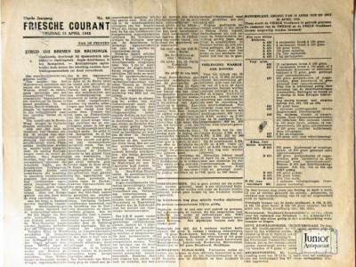 Friesche courant krant geboortedag als jubileumscadeau