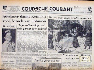 Krant geboortedag  Goudsche Courant (13-05-1972)