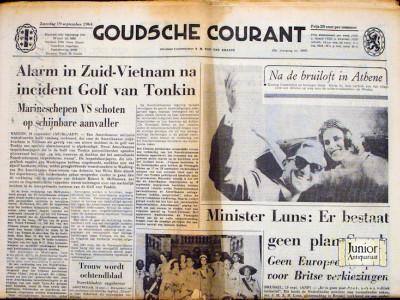 Goudsche Courant krant geboortedag als jubileumscadeau