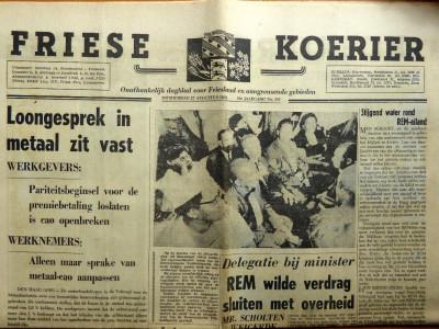 Friese Koerier krant geboortedag als jubileumscadeau