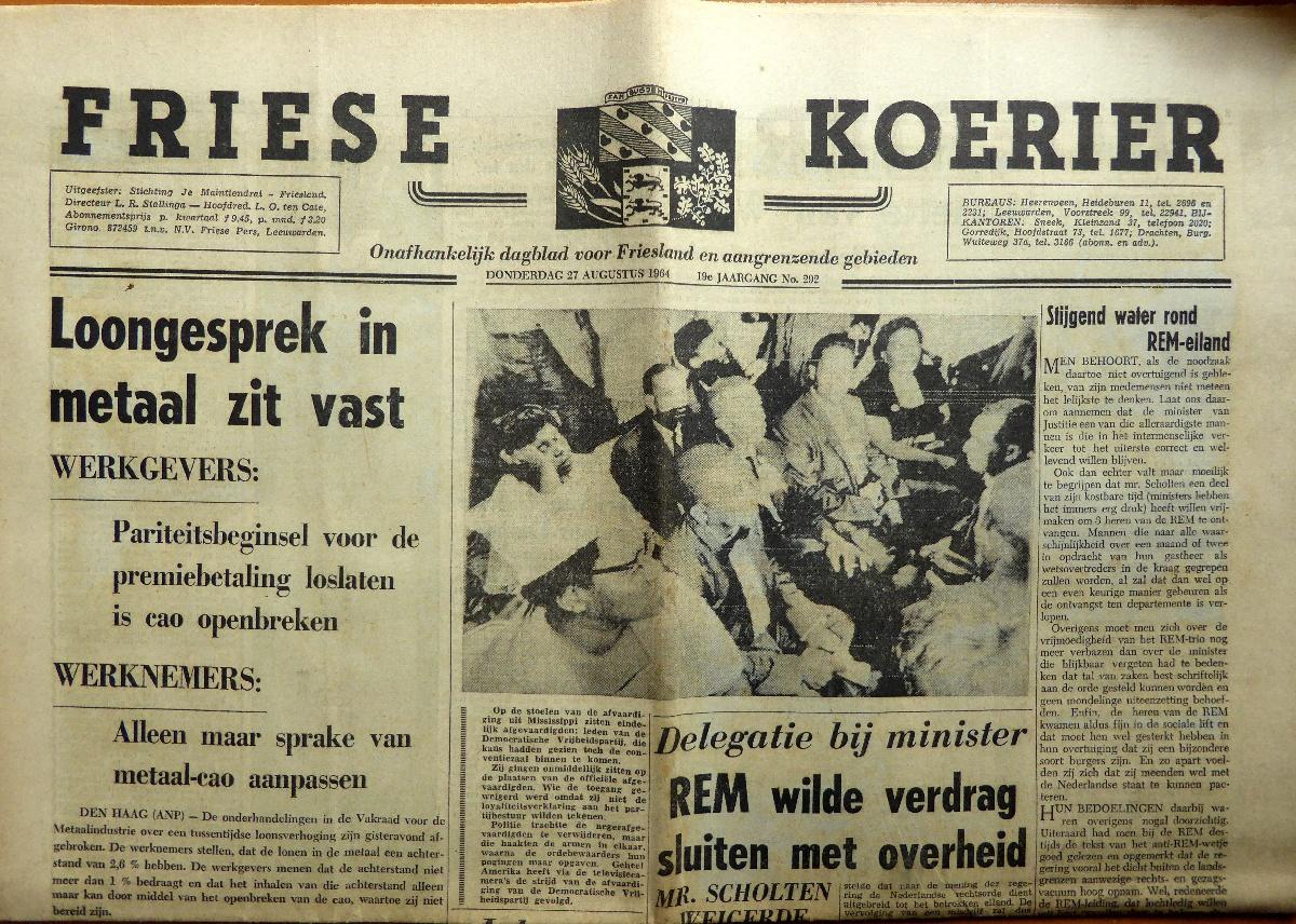 krant geboortedag titel Friese Koerier