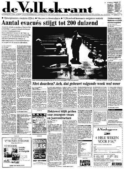 Voorpagina De Volkskrant 01-02-1995