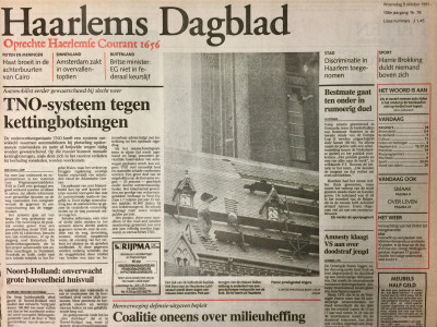 Haarlems Dagblad krant geboortedag als jubileumscadeau