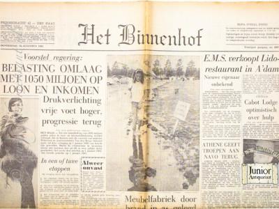Het Binnenhof krant geboortedag als jubileumscadeau