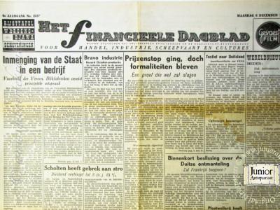 Het Financiële Dagblad krant geboortedag als jubileumscadeau