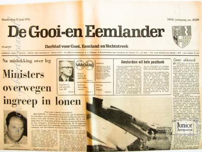 De Gooi en Eemlander krant geboortedag als jubileumscadeau