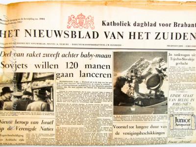 Krant geboortedag  Het Nieuwsblad van het Zuiden (26-05-1972)